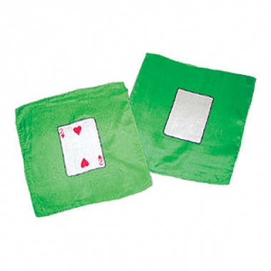 Card silk set - Two of Hearts + Blank card - 20 cm (9 inches)