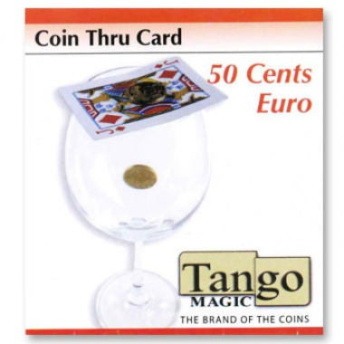 Coin thru card - 50 cents Euro