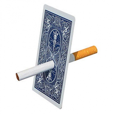 Karty Bicycle - Cigarette through card