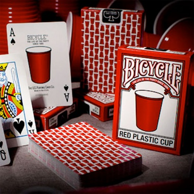 Karty Bicycle - Red Plastic Cup