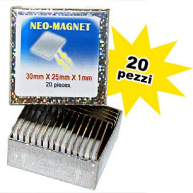Neo-Magnet 30 x 25 x 1 mm (20 pcs per box)
