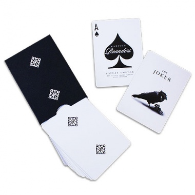 Rounders playing cards by Madison - White