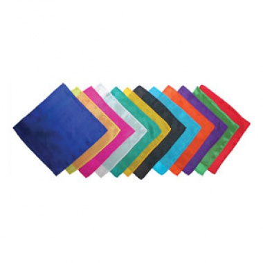 Silk squares - 20 cm (9 inches) - Set of 12 silks - Assorted dozen