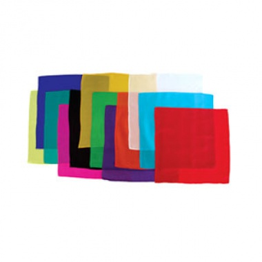 Silk squares - 30 cm (12 inches) - Set of 12 silks - Assorted dozen